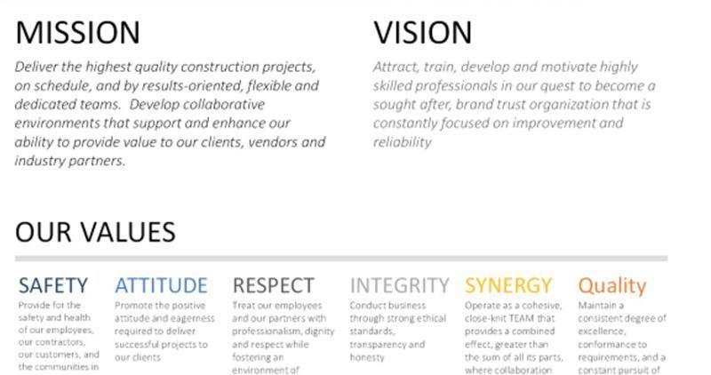 Syncon releases new Mission, Vision and Core Value Statements